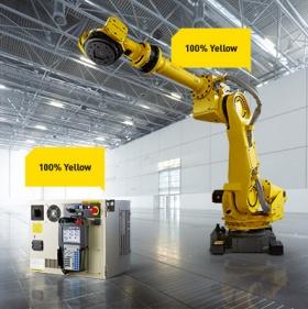 FANUC Roboter gibt es für Nutzlasten bis zu 2,3 t und Reichweiten bis zu 4,7 m-